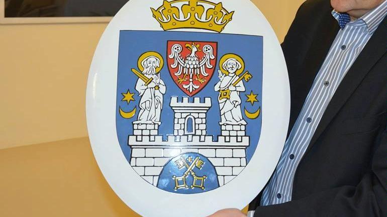 Poznań herb miasta na placówkach oświatowych