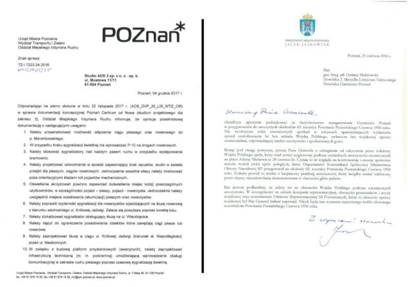 Poznań pismo urzędowe list logo herb