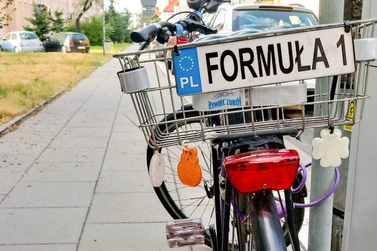 Poznań Jeżyce rower Formuła 1