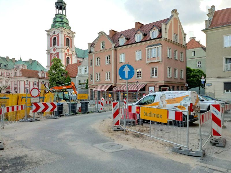 Zaplecze budowy - Budimex na Placu Kolegiackim, Poznań