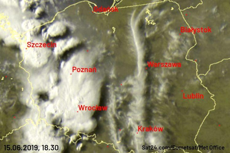 Burze w zachodniej Polsce