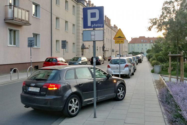 Jackowskiego Poznań opłaty Strefa Płatnego Parkowania nielegalne