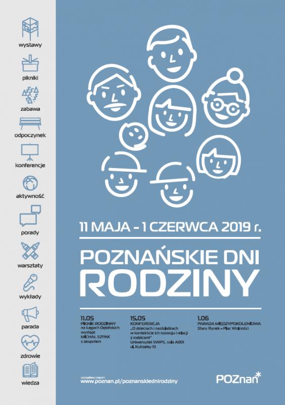 Poznańskie Dni Rodziny - plakat z logo Poznania