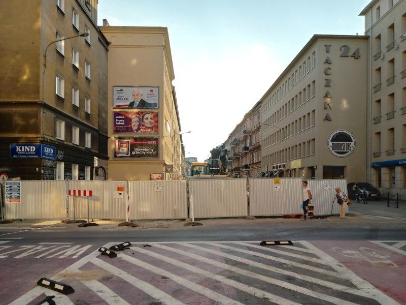 Widok od strony ulicy Ratajczaka