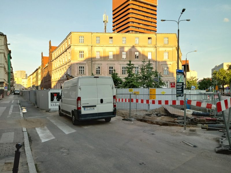 Poznań przebudowa ulicy Taczaka od strony ul. Kościuszki