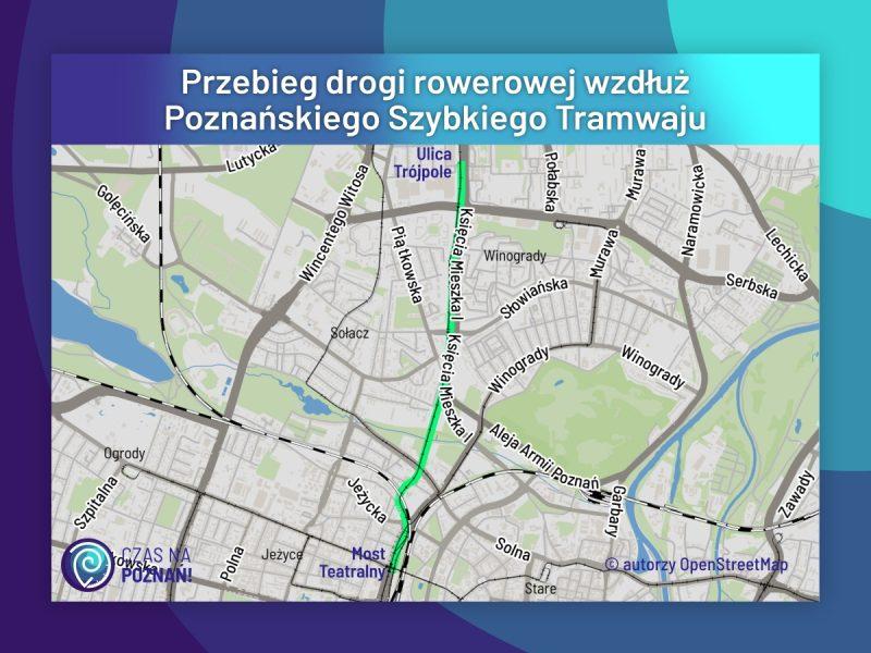 Rowerowy Poznań: trwa projektowanie trasy wzdłuż PST