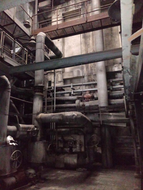 Wnętrze kotowni EC Garbary