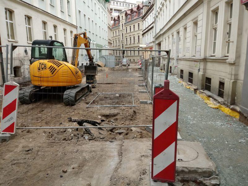 Nieprzejezdna ulica Garncarska - remont w centrum Poznania