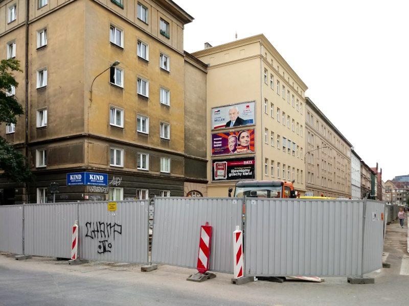 Widok na skrzyżowanie ul. Ratajczaka i Taczaka
