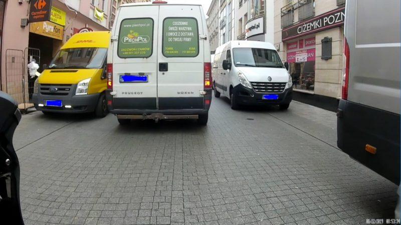 Ulica Półwiejska - deptak i zastawianie przez samochody