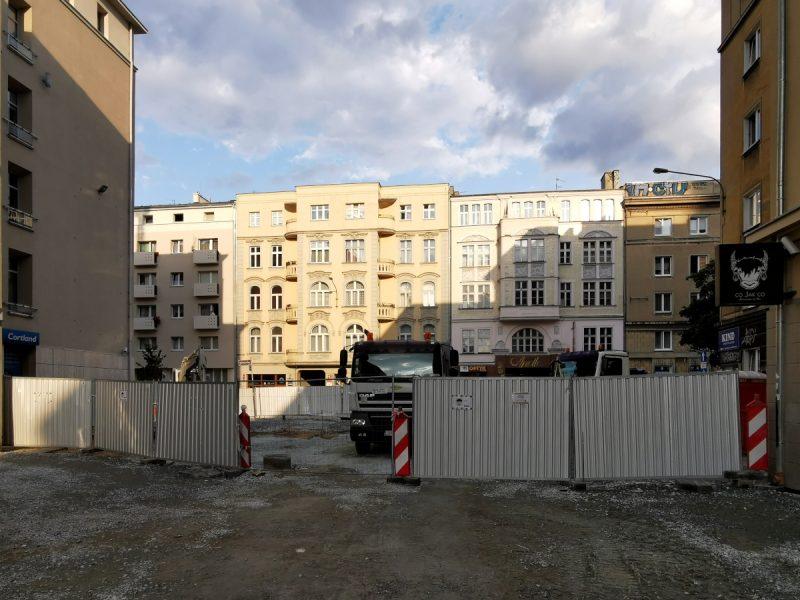 Skrzyżowanie Taczaka i Ratajczaka - plac budowy