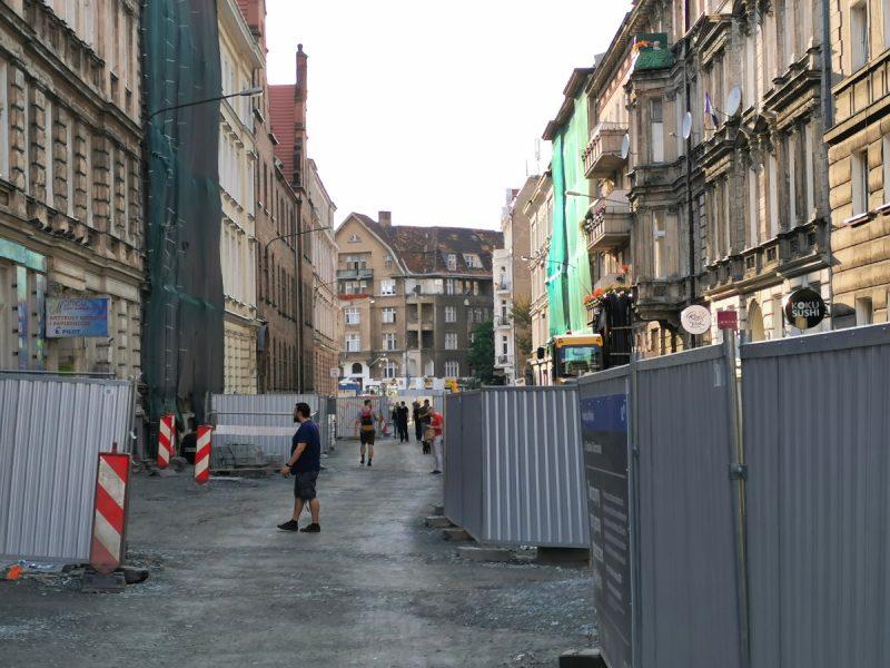 Plac budowy i podbudowa na Taczaka i Garncarskiej