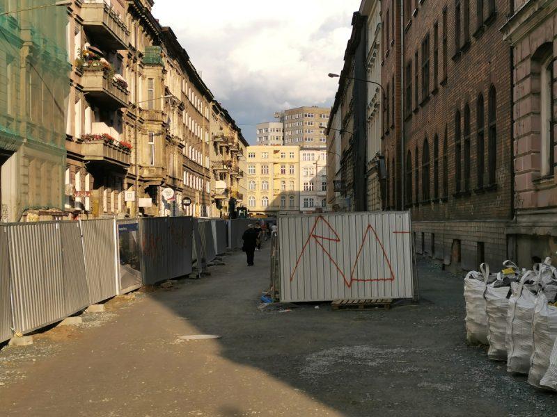 Taczaka południowa strona - podbudowa, ułożone instalacje podziemne, inwestycje w Poznaniu