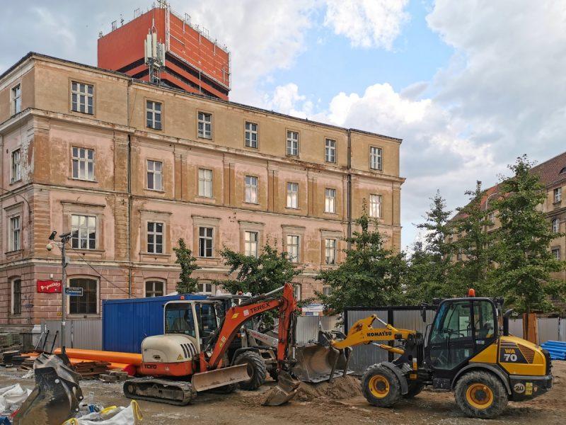 Poznań Stare Miasto Taczaka zaplecze budowy