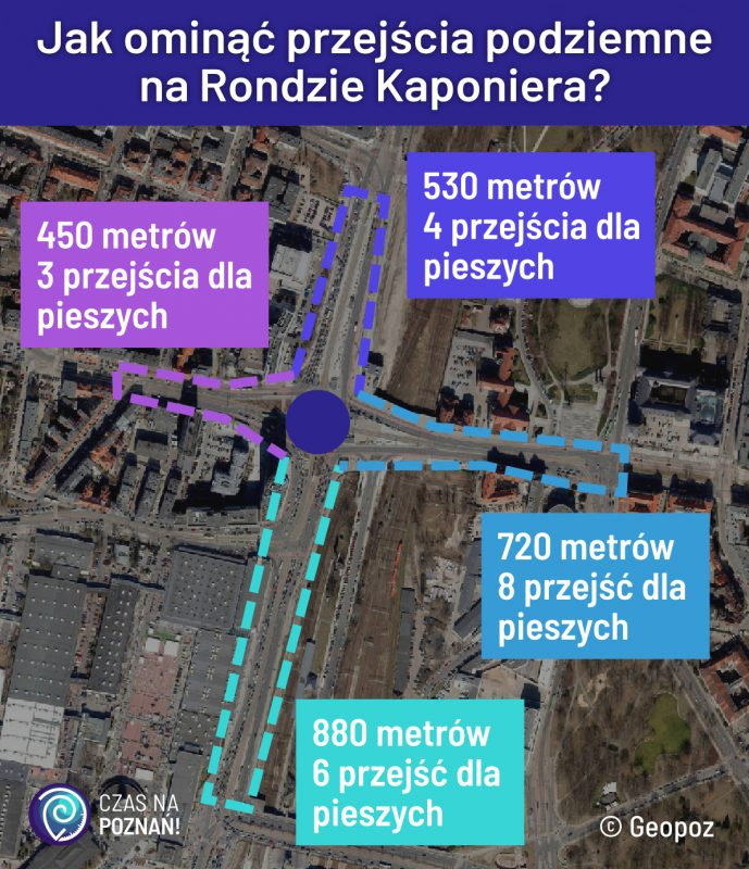 Jak ominąć przejścia podziemne na Rondzie Kaponiera?