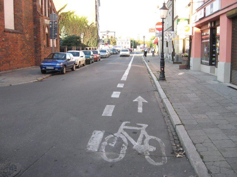 Poznań kontrapas zasady ruchu rowerowego Wroniecka