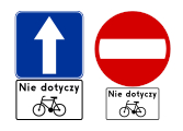 Kontraruch rowerowy znaki