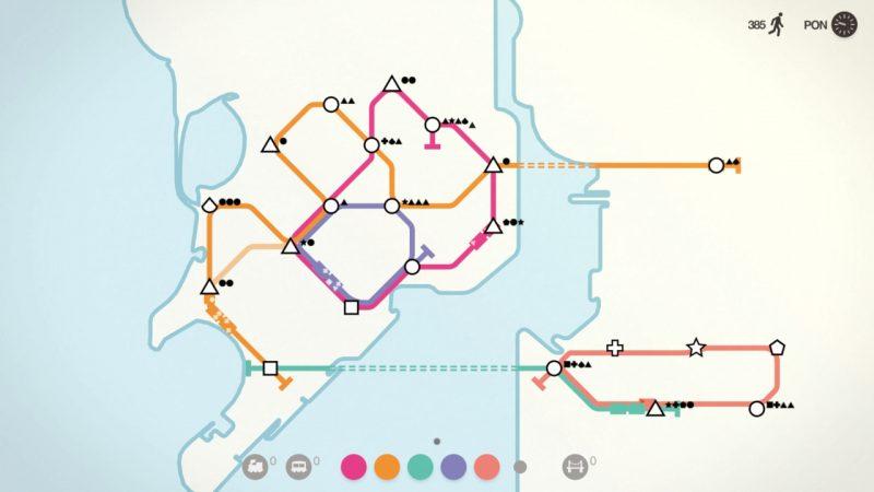 Mini Metro: symulator rozwoju sieci metra