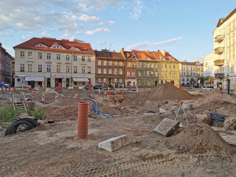 Plac Kolegiacki - fontanna, instalacje, budowa, Budimex