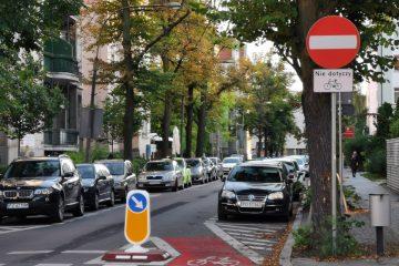 Ulica Mickiewicza na Jeżycach, kontraruch rowerowy