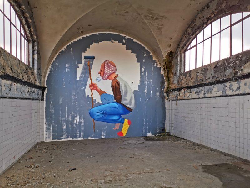 Kolejny przykład sztuki ulicznej w Starej Rzeźni przy ulicy Garbary