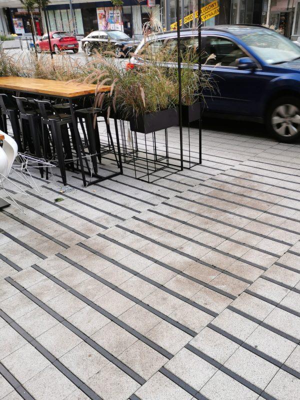 Brud i gemela w ogródkach restauracyjnych