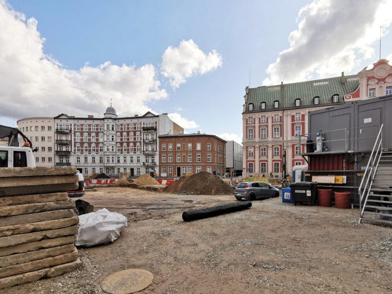 Tym razem spoglądamy na plac budowy od ulicy Koziej