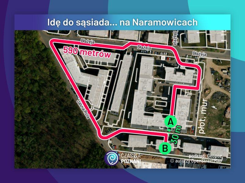 Idę do sąsiada... na Naramowicach. Dwa osiedla, dwaj inwestorzy, brak wzajemnego powiązania budynków, brak planu miejscowego. Osiedla grodzone w Poznaniu