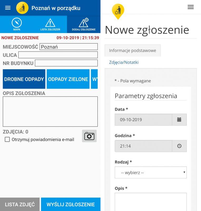 Poznań w porządku: porównanie aplikacji i strony internetowej