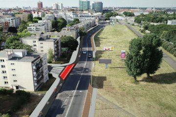 Wizualizacja drogi rowerowej w ulicy Dolna Wilda. Źródło: Poznańskie Inwestycje Miejskie