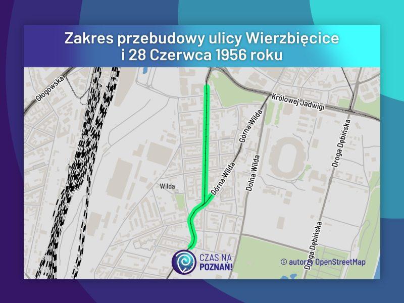 Zakres przebudowy ulicy Wierzbięcice i 28 Czerwca 2019 roku. Inwestycja ruszy już w 2020 roku!