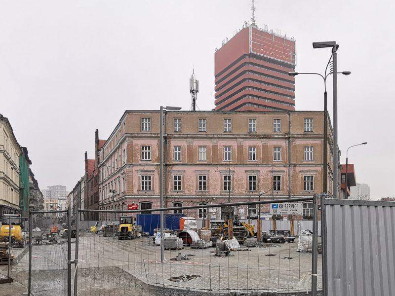 Przebudowa ulicy Taczaka. Zaczynamy widokiem od strony ulicy Kościuszki