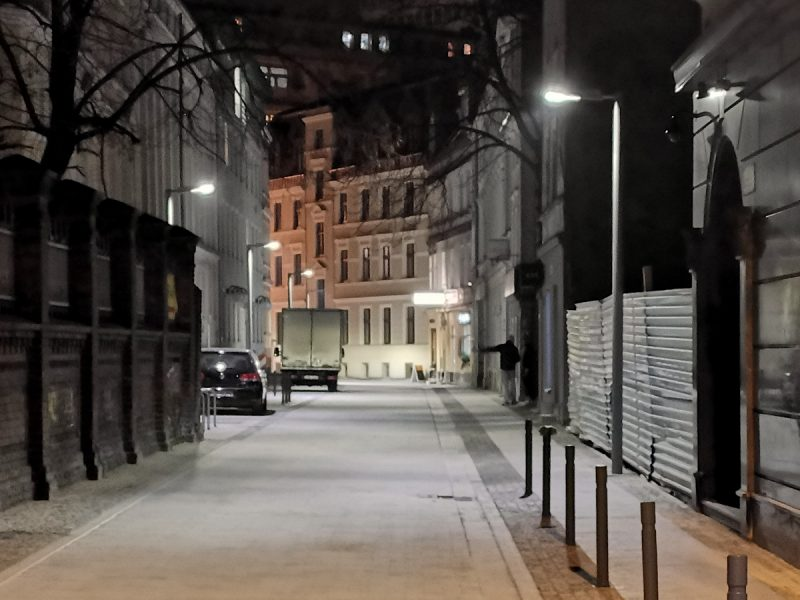 Ulica Garncarska - wysokie zaawansowanie robót budowlanych