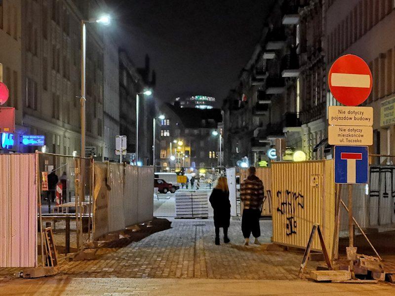 I na zakończenie - perspektywa od Ratajczaka w kierunku Kościuszki. Oś ulicy Taczaka zwieńcza Bałtyk