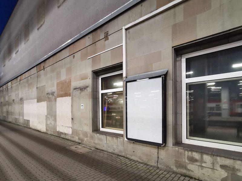Stary dworzec w Poznaniu, widok z peronu 1