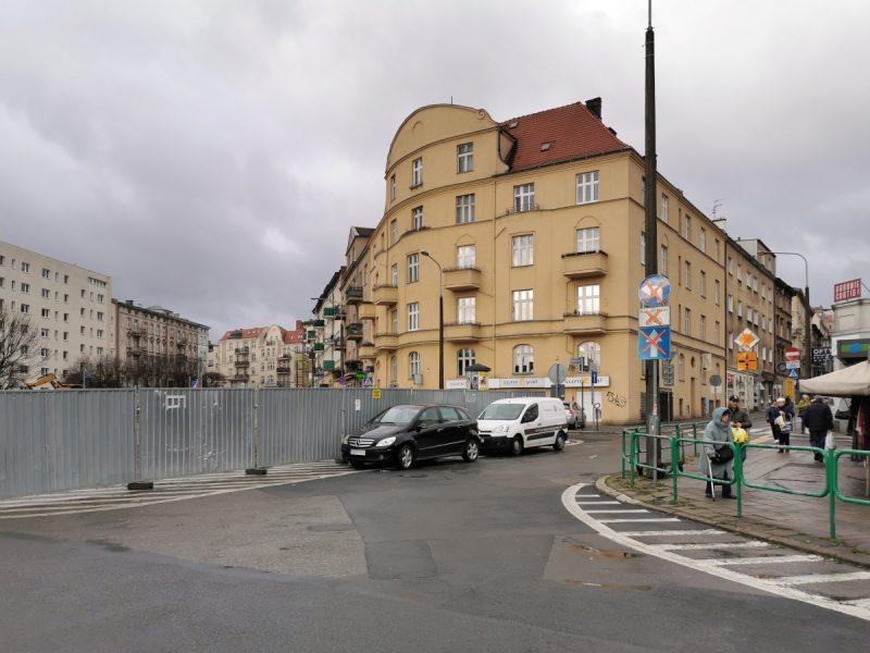 Rejon skrzyżowania z ulicą Niegolewskich. Rewitalizacja śródmieścia Poznania