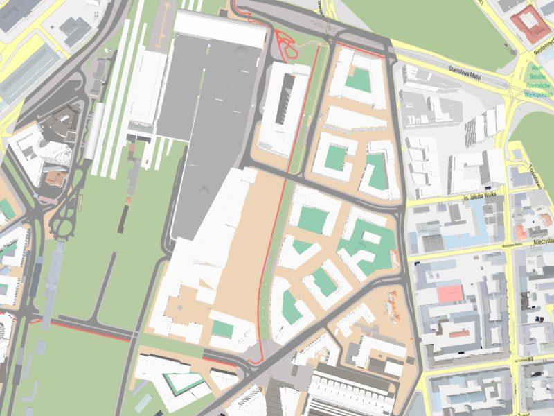 Okolice dworca Poznań Główny. Projekt planu miejscowego dla Wolnych Torów zakłada powstanie nowego dworca PKS
