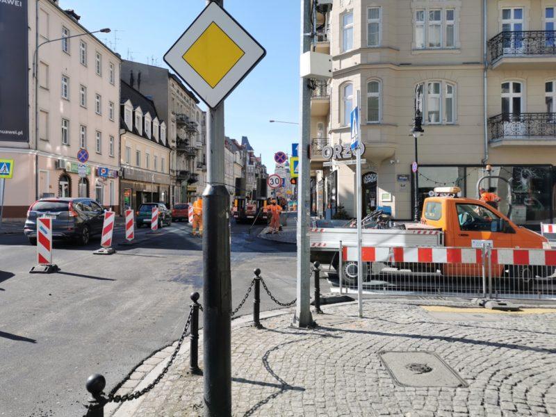 Okolice skrzyżowania Garbar z ulicą Wielką