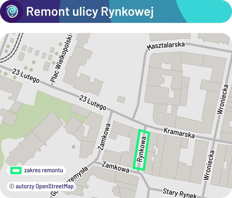 Zakres remontu ulicy Rynkowej na Starym Mieście