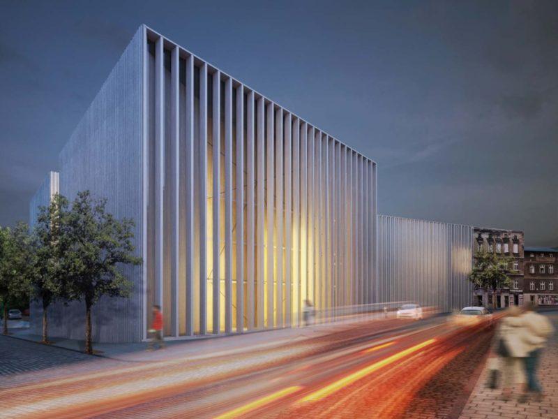 Projekt zespołu szkół muzycznych w Poznaniu. Fot. Piw Paw Architects