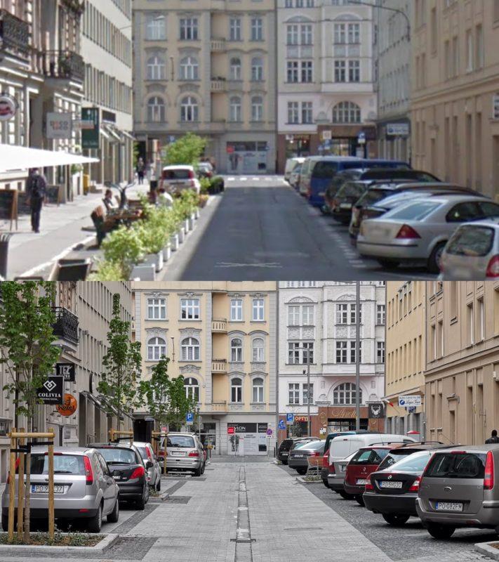 Przebudowa ulicy Taczaka: patrzymy na wschód w stronę ulicy Ratajczaka