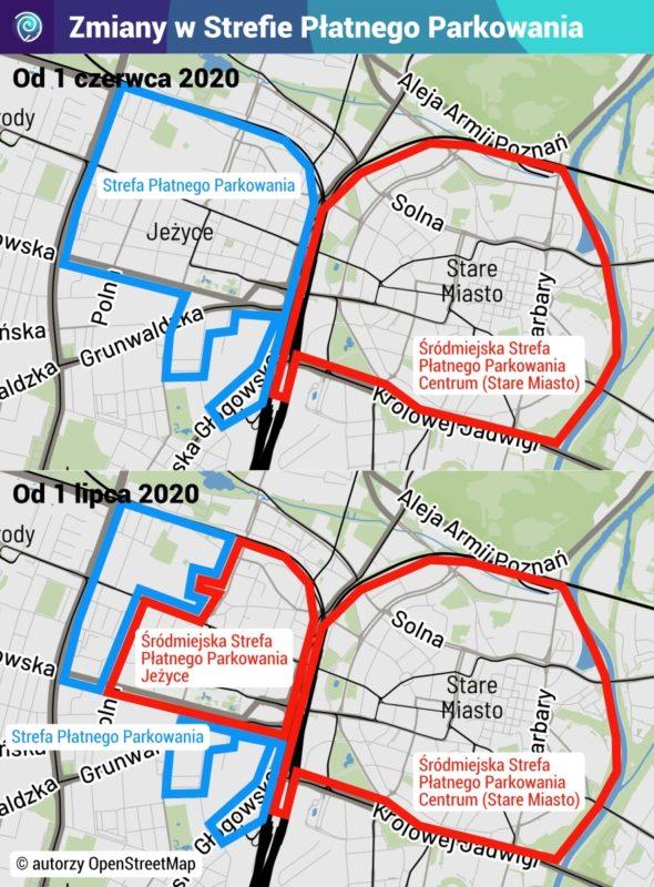 Zmiany w Strefie Płatnego Parkowania w Poznaniu - mapa