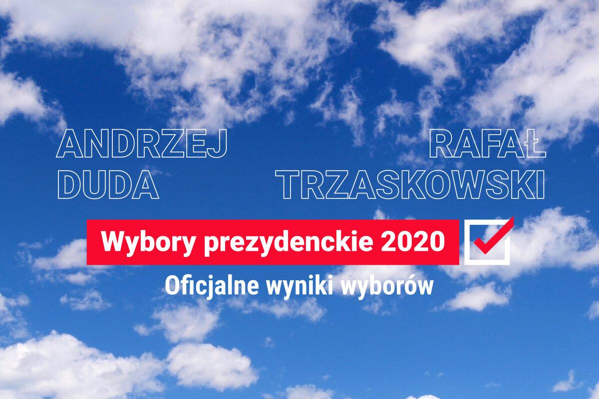 Oficjalne wyniki I tury wyborów prezydenckich 2020: Andrzej Duda, Rafał Trzaskowski