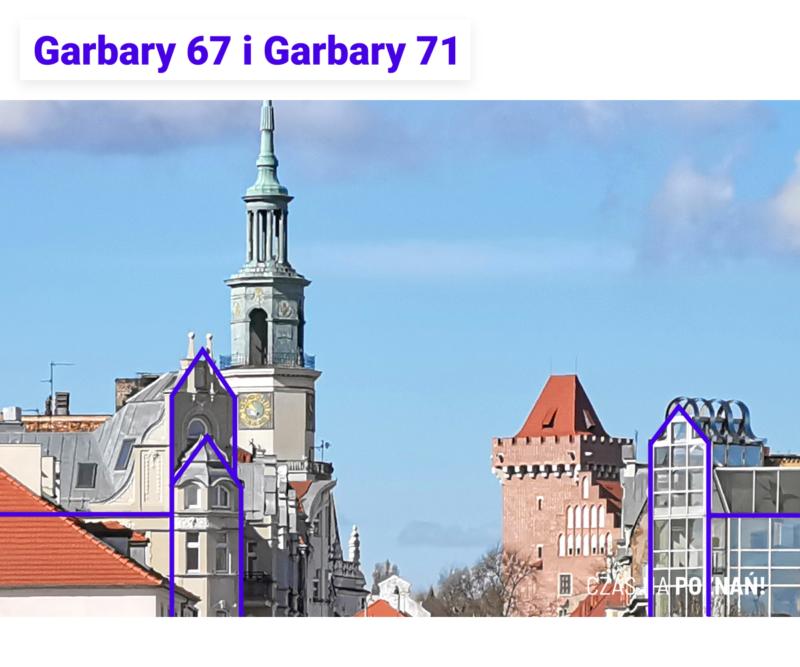 Narożniki budynków: Garbary 67 i Garbary 71