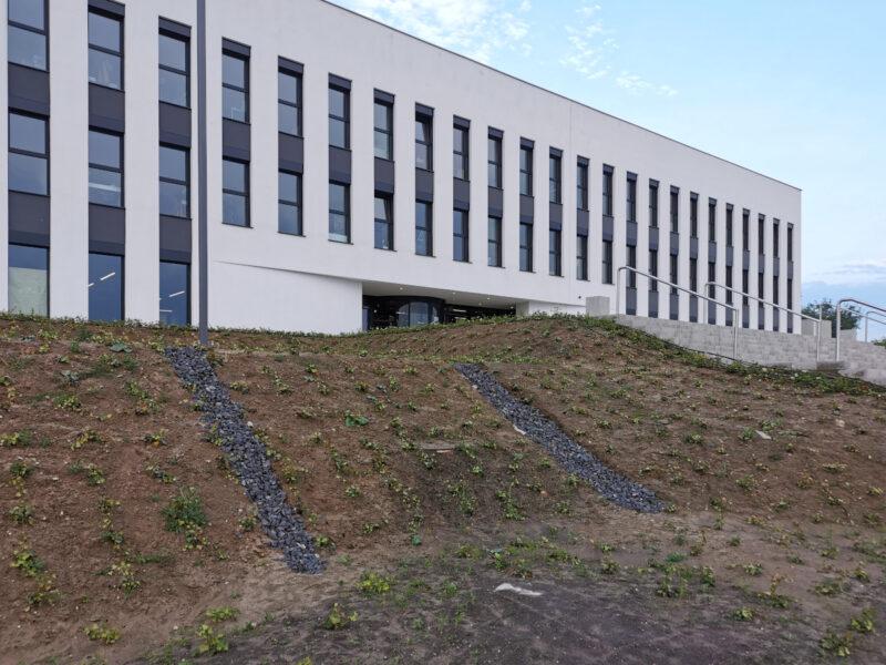 Jedna ze skarp - Wydział Architektury Politechniki Poznańskiej