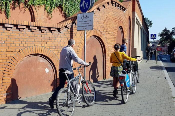 Jeszcze w sierpniu powstanie tymczasowa droga rowerowa na ul. Kościuszki pod Starym Browarem