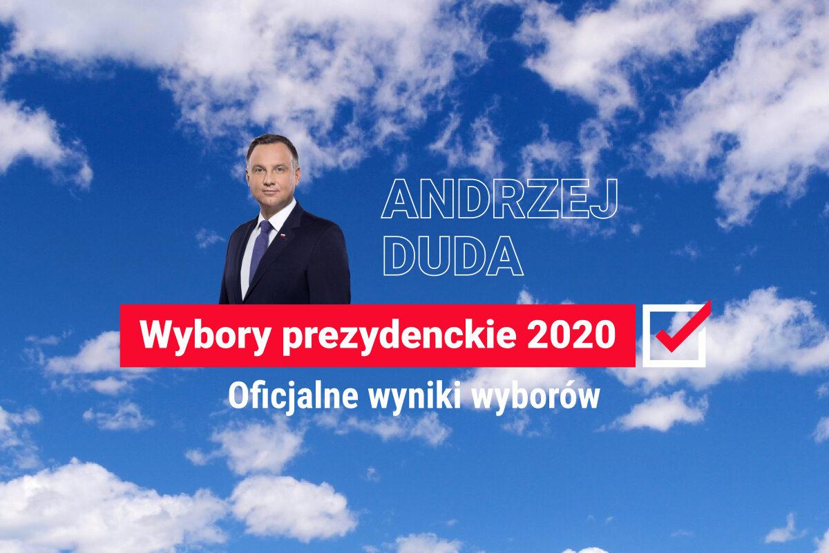 Oficjalne wyniki wyborów prezydenckich 2020. Andrzej Duda wygrywa, Rafał Trzaskowski drugi