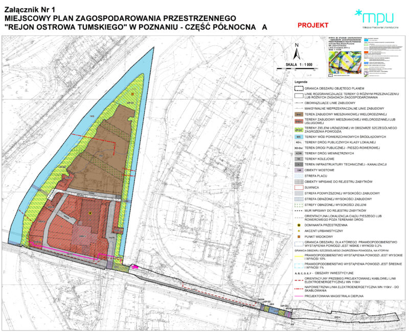 Rysunek planu miejscowego dla terenu Elektrociepłowni Garbary. Źródło: MPU