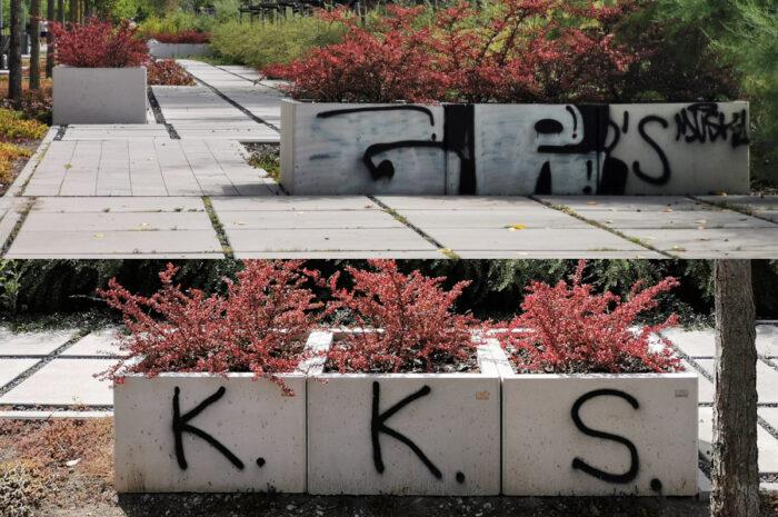 Jak miasto dba o Park Rataje? Nowych wandalizmów niewiele, stare bez reakcji [ZDJĘCIA]