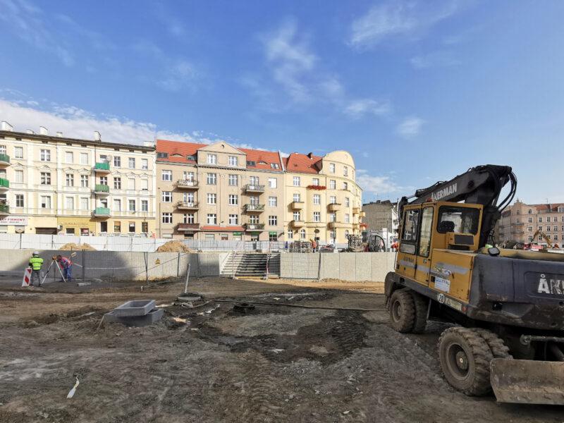Skwer Kazimierza Nowaka - fragment bliższy ulicy Lodowej